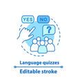 language quizzes games concept icon vector image