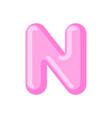 letter n candy font caramel alphabet lollipop vector image vector image
