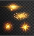 light effect glow vector image vector image
