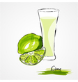 lime juice vector image vector image
