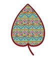 line color ethnic natural leaf with ornamental vector image vector image