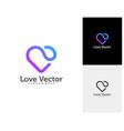 love heart creative logo concepts abstract vector image vector image