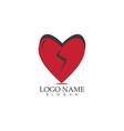 love icon logo vector image vector image