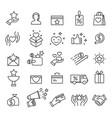 loyalty program icons exclusive discounts vector image