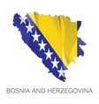 map bosnia and herzegovina vector image vector image