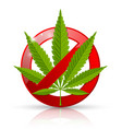 marijuana prohibition sign vector image vector image
