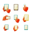 Mobile communication flat icons vector image