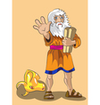 Moses and Precept stones vector image vector image