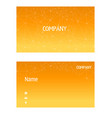 name card abstract polygonal orange background vec vector image