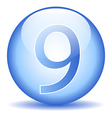 Number nine button vector image vector image