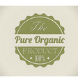 Old round retro vintage grunge stampl for organic vector image vector image
