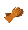 pair of cowboy leather gloves vector image