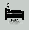 Person Sleeping In Bed Symbol vector image vector image