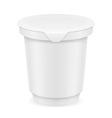 plastic container of yogurt or ice cream 01 vector image vector image