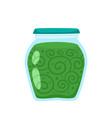 preserved food in glass jar cartoon vector image