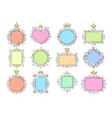 princess mirror frames set vector image vector image