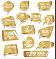 promo sale stickers and tags collection modern vector image vector image