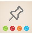 push pin icons vector image
