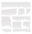 realistic detailed 3d white ripped notebook paper vector image vector image