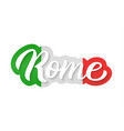 rome hand lettering vector image vector image