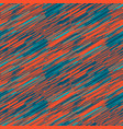 scribble strokes blue and red seamless pattern vector image vector image