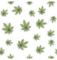 seamless texture marijuana five vector image