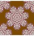 Seamless tribal pattern delicate mandala floral vector image vector image