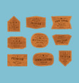 set leather patch for denim clothing vector image vector image