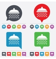 Shower sign icon Douche with water drops symbol vector image