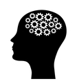 silhouette a man head vector image vector image