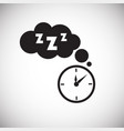 sleep time on white background vector image vector image