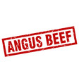 square grunge red angus beef stamp vector image vector image