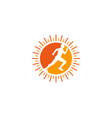 sun run logo icon design vector image vector image