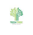tech tree logo concept vector image vector image