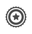 trophy icon with star isolated on white vector image vector image