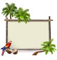 Tropics Frame vector image vector image