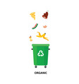 waste bin trash recycling and separation vector image