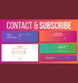 website contact subscribe form modern vector image