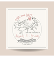 wedding invitation card save date vector image vector image