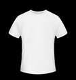 White T-shirt Stock vector image vector image