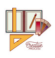 work elements graphic design creative process on vector image vector image