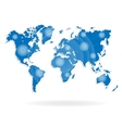 World map for website on a white background vector image vector image