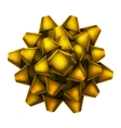 Yellow bow top view EPS 10 vector image