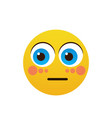 yellow cartoon face shocked people emotion icon vector image vector image
