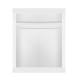 White Blank Foil Packaging Template vector image