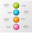 colorful business circles background vector image