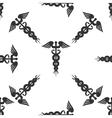 Caduceus medical symbol Icon pattern vector image