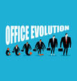 office evolution office plankton turns into boss vector image