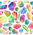 Colorful watercolor gem pattern beautiful crystal vector image