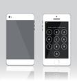 password on white phone vector image